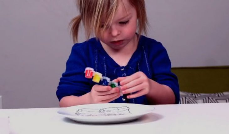 painting activity for santa plates
