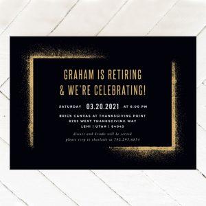 Scattered frame retirement invitations